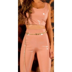SEXY LATEX LOOK PANTS WITH ZIPS