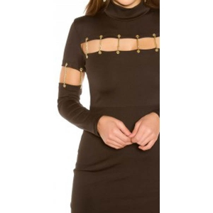 SEXY SHIFT DRESS WITH DECO CHAINS