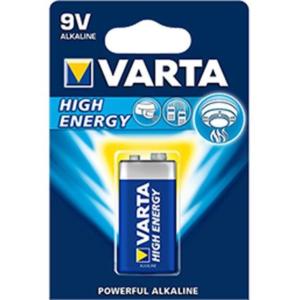 Batteries Alkaline Varta 9V- 1 p-1.5V