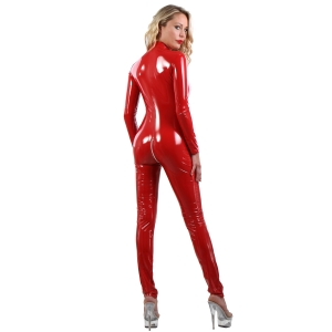 112VI  Catsuit- Red