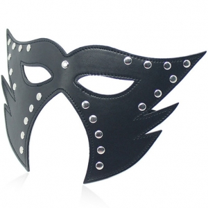 Cat Mask Open Mouth Black