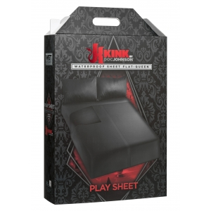 KINK Wet Works Flat Waterproof Sheet Black Queen