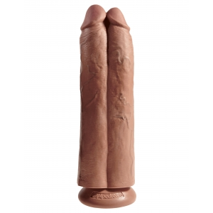 King Cock Two Cocks One Hole Tan