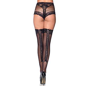 Fishnet Panty & Thigh High Set
