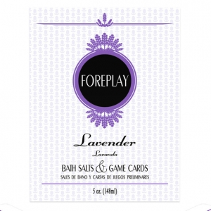 Kheper Games Lavender Foreplay Bath Salts & Game Cards