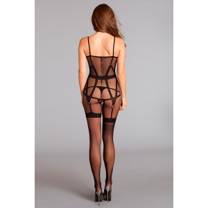 CROTCHLESS BODYSTOCKING WITH STRAPPING