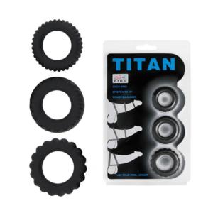 Τρία Δαχτυλίδια Πέους -Titan 3 in 1 Silicone Rings