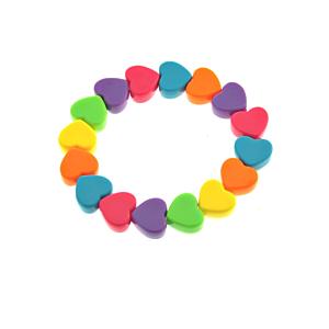 Multicolour Heart Bracelet