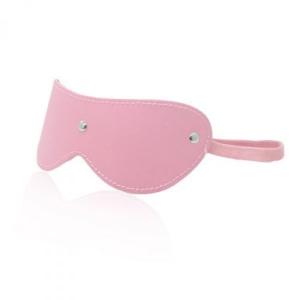 Δερμάτινη μάσκα στύλ φετίχ -ροζ Blindfold Mask