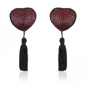 Heart shine nipples tassels (red)