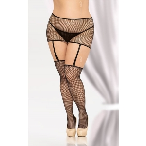Stockings&Garterbelt - black One Size (XL - 3XL)
