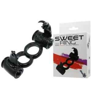 Sweet Ring Double Penis Ring Black