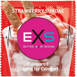 EXS Strawberry Condom 1pcs