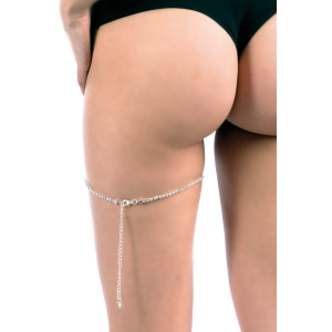Silver rhinestone garter jewel