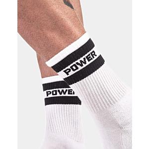 WHITE HALF FETISH SOCKS POWER