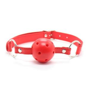 Μπίλια για το στόμα με τρύπες -Ball Gag κόκκινο