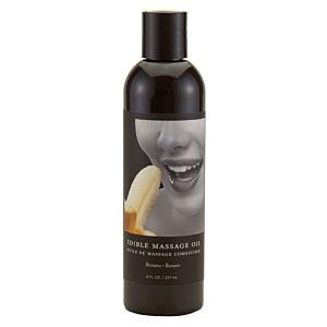 Earthly Body Edible Massage Oil Banana Transparent 8oz
