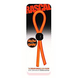 Rascal The Brawn Cock Single Leash Glow Orange OS
