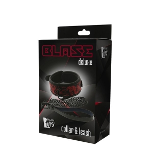 BLAZE DELUXE COLLAR & LEASH RED