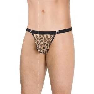 Mens Thong 4528 - Leopard - One Size