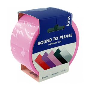 Kinx Bound To Please Bondage Tape Restraints Pink 20m