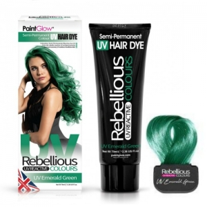 Semi-Permanent Hairdye, 70ml - UV Emerald Green
