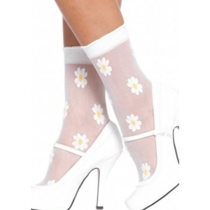 Sheer woven daisy anklets