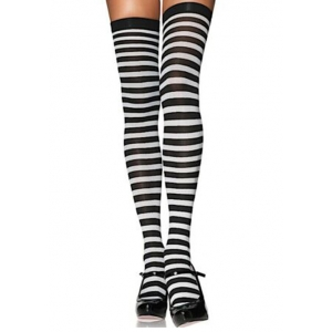 Striped Thigh Highs Plus Size