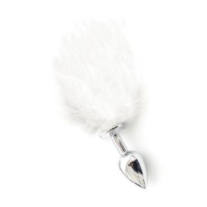 Pon Tail Anal Plug  white