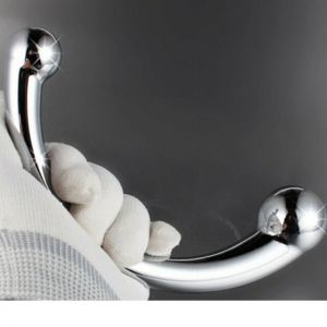 Rouge Garments Stainless Steel Wand Dildo Silver 10in