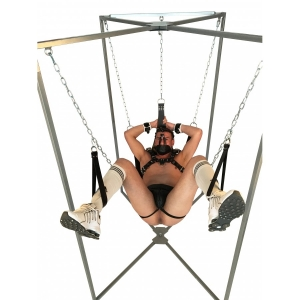 SLING STAND FOR SLING 4 or 5 POINTS + CARRY BAG - BDSM - Platinum gray