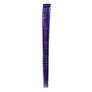 Aprox. 40cm Purple Zebra Print Hair Highlights/ Extensions