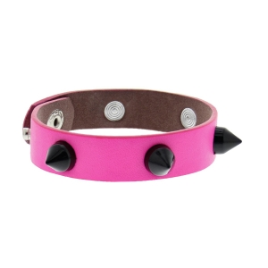 Neon Pink Conical Studded Bracelet