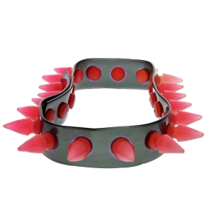 Alter Ego UV Black Necklace / Chocker With Pink Spikes