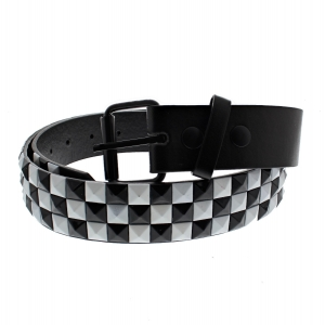 Black & White Chessboard 3-Row Pyramid Belts