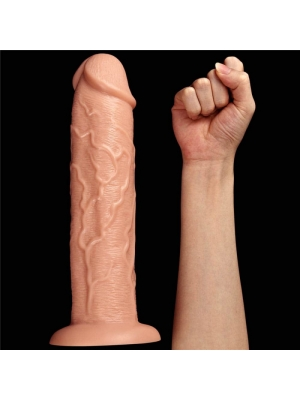 """Huge Realistic Long Dildo with Vibration 11"""" Skin"""