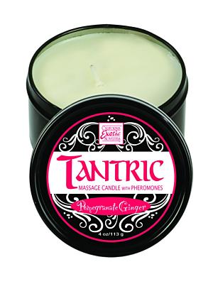 Tantric Candle w. Pheromones - Pomegranate