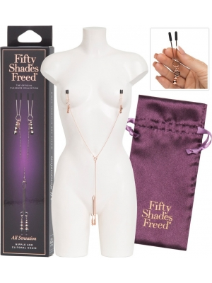 FIFTY SHADES FREED ALL SENSATION NIPPLE & CLITORAL CHAIN