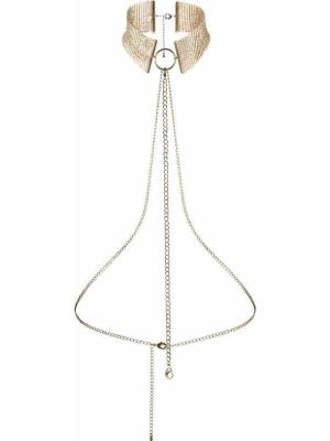 Bijoux Indiscrets Desir Metallique Collar Mesh Gold