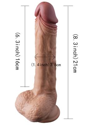 Realistic Dildo Silicon Lichid Manos 22 cm