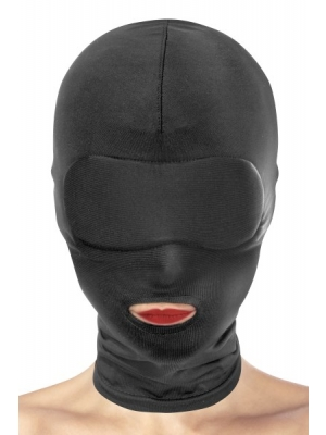 Open over the mouth fetish mask - black