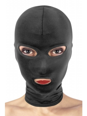 open eyes and mouth mask - black