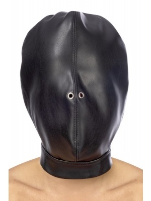 Fetish hood with strap