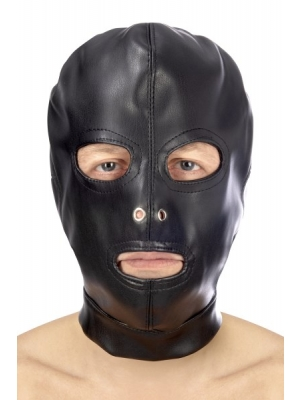 Fetish hood eyes and mouth with strap