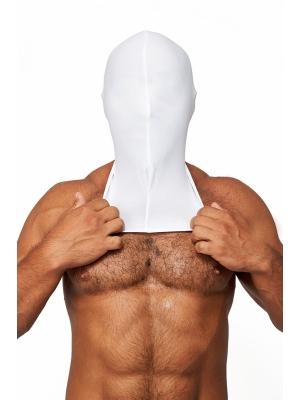Mister B Lycra Hood No Holes White