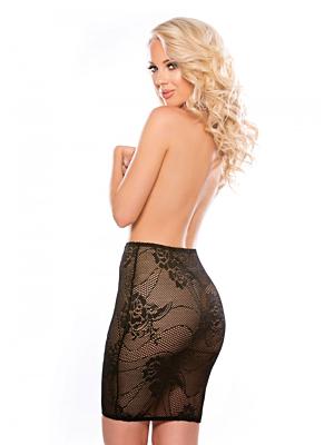 Allure Lingerie Ella Zipper Skirt Black