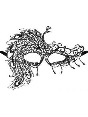Black soft embroidered lace mask