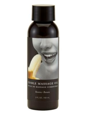 Earthly Body Edible Massage Oil Banana Transparent 60ml