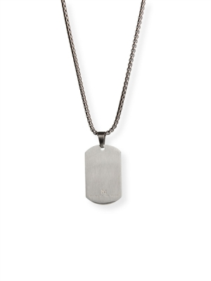 Master of the House Dog Tag Stainless Steel Brushed
