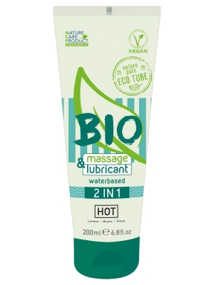 Hot Bio Massage Lubricant 2 In 1 200ml